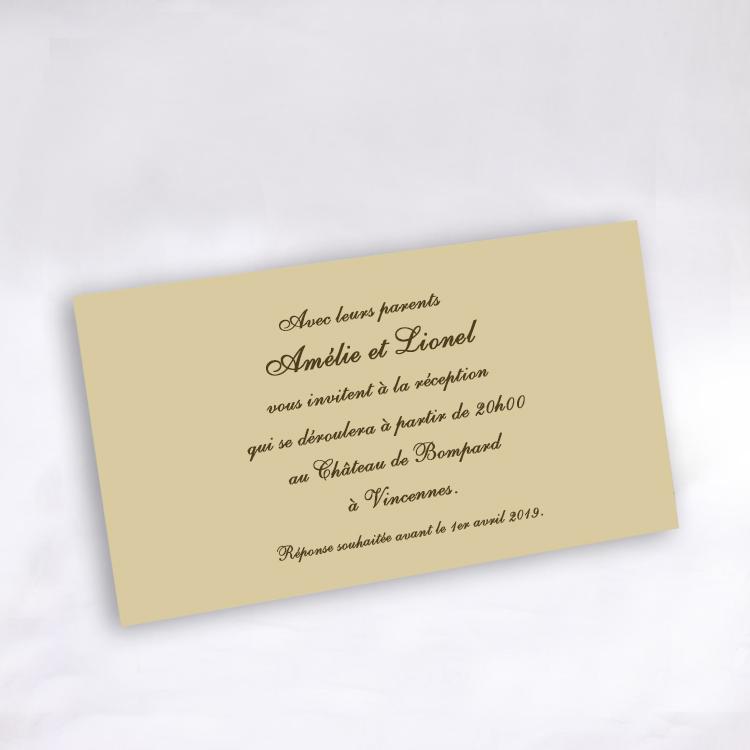 invitation mariage 59223 ivoire amour toujours faire part selection faire part s lection. Black Bedroom Furniture Sets. Home Design Ideas