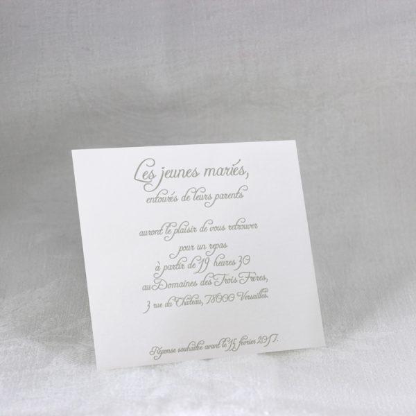 Invitation Mariage 59466 Blanc Arum Faire Part Selection