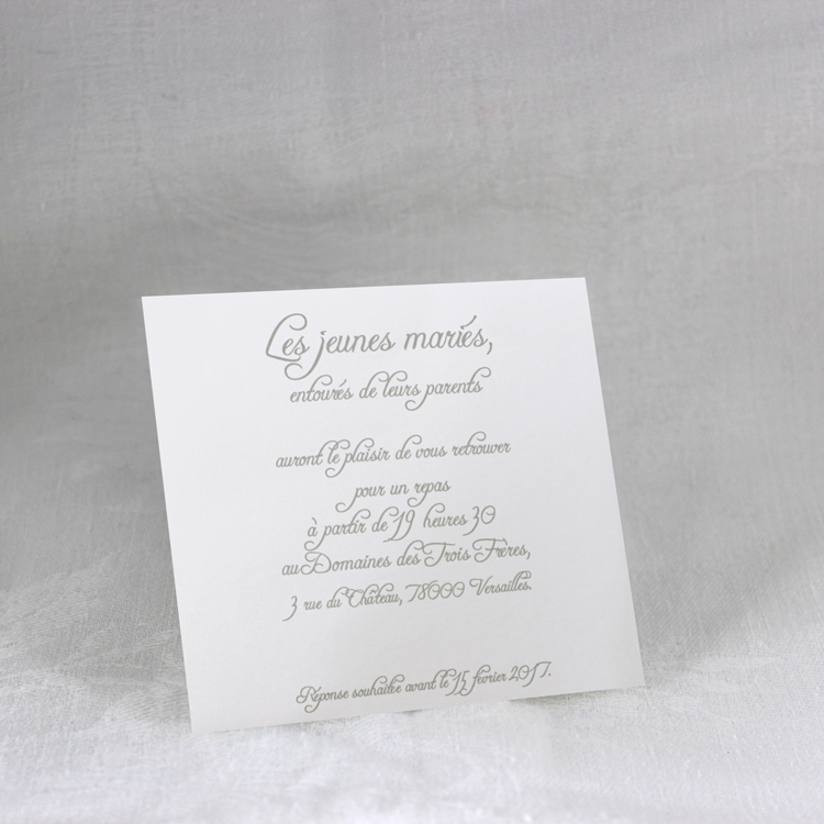 Invitation Mariage 59466 Blanc Arum Faire Part Selection