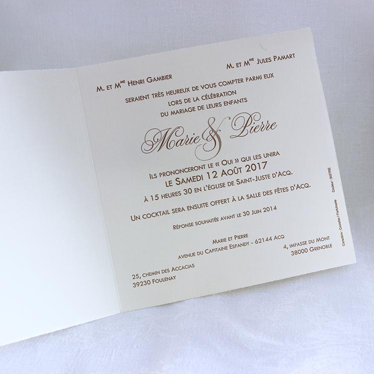 Faire part Mariage 48536 Ivoire Purete Faire Part Selection 3