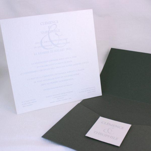 Faire part Mariage 49102 Gris Signature Faire Part Selection 3