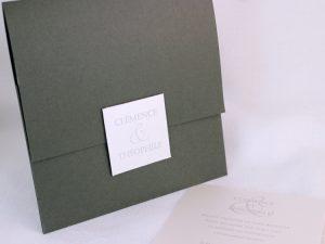 Faire part Mariage 49102 Gris Signature Faire Part Selection