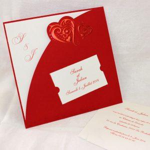faire part mariage romantique rouge votre heureux blog photo de mariage. Black Bedroom Furniture Sets. Home Design Ideas