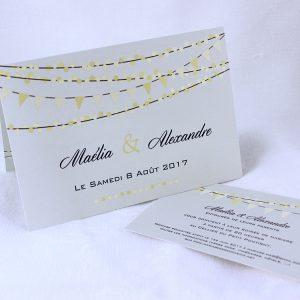 Faire part Mariage 49409 Gris Mimosa Faire Part Selection