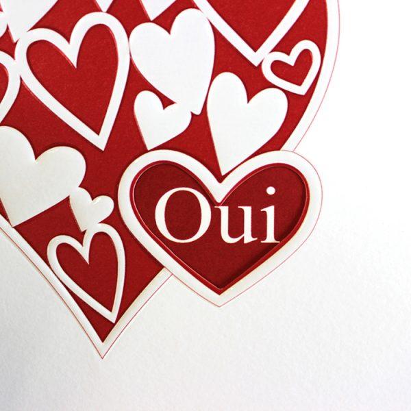 Faire part Mariage 49413 Coeur Patchouli 49468 Faire Part Selection 2
