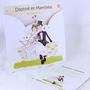 Faire part Mariage 49418 Maries Amande Douce Faire Part Selection