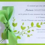 Faire part Mariage 49428 Vert Jasmin Faire Part Selection 2