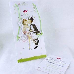 Faire part Mariage 49430 Amoureux Violette Faire Part Selection