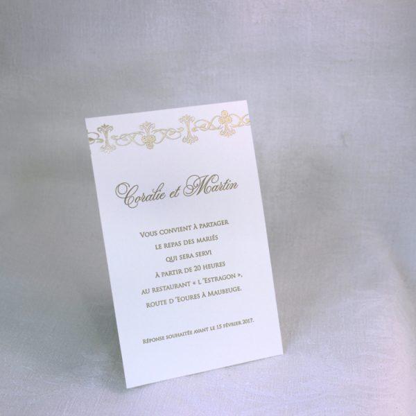 Faire part Mariage 49460 Ivoire Irise Edelweiss Faire Part Selection invitation