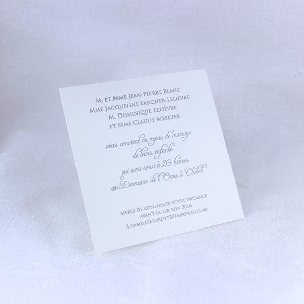 Faire part Mariage 49463 Noir Croco Moka Faire Part Selection invitation