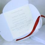 Faire part Mariage 49471R Blanc Croco Aida Faire Part Selection 3