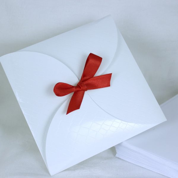 Faire part Mariage 49471R Blanc Croco Aida Faire Part Selection