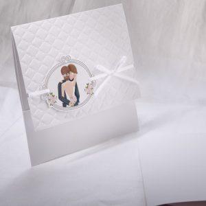 Faire part Mariage 49501 Romantique Blanc Perfect Day Faire Part Selection