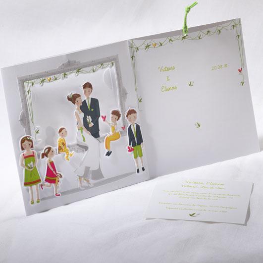 Faire part Mariage 49504 Famille Le tourbillon de la vie Faire Part Selection 2