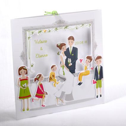 Faire part Mariage 49504 Famille Le tourbillon de la vie Faire Part Selection