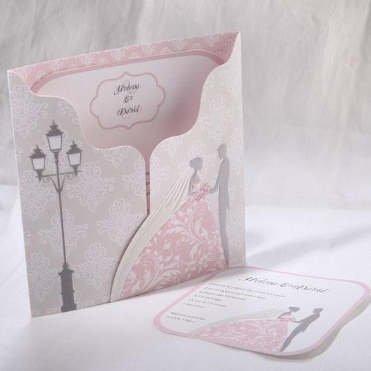 Faire part Mariage 49511 Romantique Daphnis et Chloe Faire Part Selection