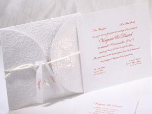 Faire part Mariage 49516 Blanc Les roses blanches Faire Part Selection