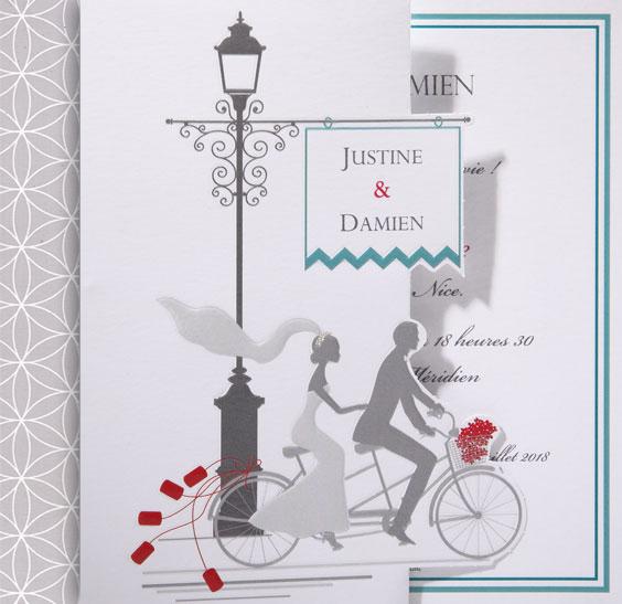 Faire part Mariage 49517 Romantique Pavane Faire Part Selection 3