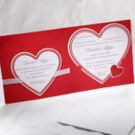 Faire part Mariage 49532 Rouge L'envie d'aimer Faire Part Selection 2
