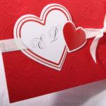 Faire part Mariage 49532 Rouge L'envie d'aimer Faire Part Selection 3