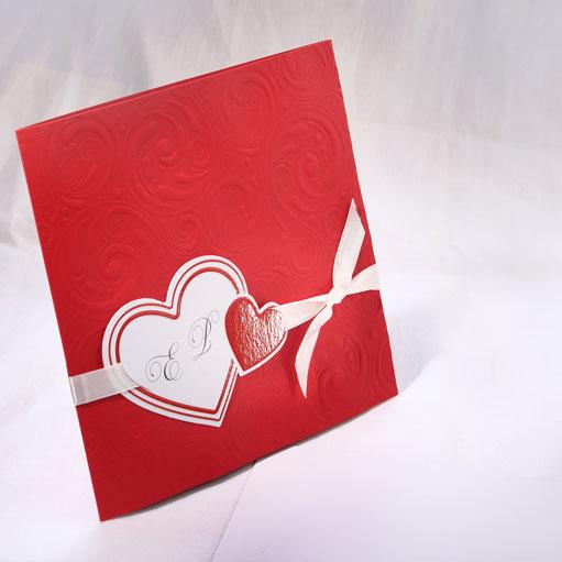 Faire part Mariage 49532 Rouge L'envie d'aimer Faire Part Selection