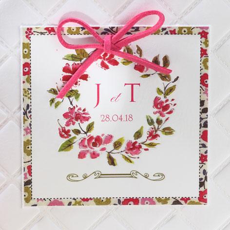 Faire part Mariage 49536 Champetre Valse des fleurs Faire Part Selection 2