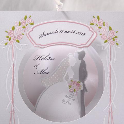 Faire part Mariage 49538 Romantique Pelleas et Melisande Faire Part Selection 3