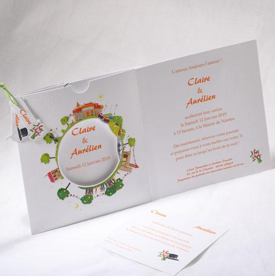 Faire part Mariage 49541 Colore Cara Sposa Faire Part Selection 2