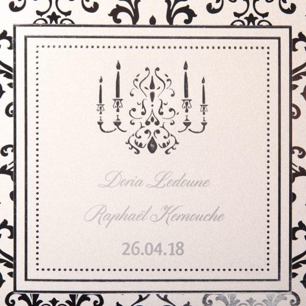 Faire part Mariage 49552 Argent La flute enchantee Faire Part Selection 3