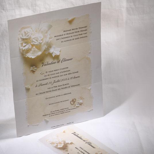 Faire part Mariage 49564 Ivoire La declaration Faire Part Selection