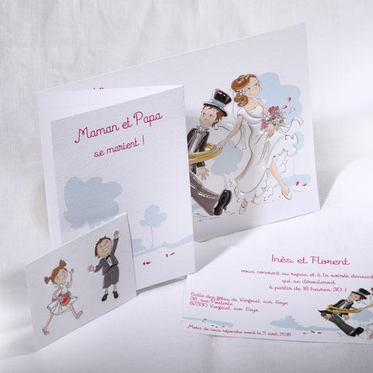 Faire part Mariage 49566 Famille Salut les amoureux Faire Part Selection