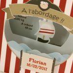 Faire part Naissance 89301 Bateau A l'abordage Faire Part Selection 3