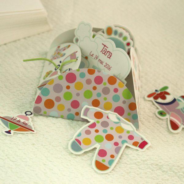 Faire part Naissance 89305 Colore Les jouets Faire Part Selection 2