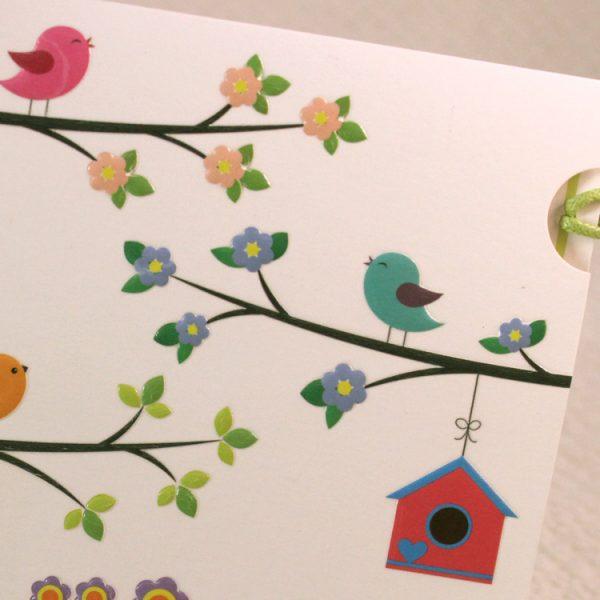Faire part Naissance 89307 Colore Les oiseaux Faire Part Selection 3