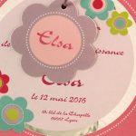 Faire part Naissance 89308 Rond Petite marguerite Faire Part Selection 2