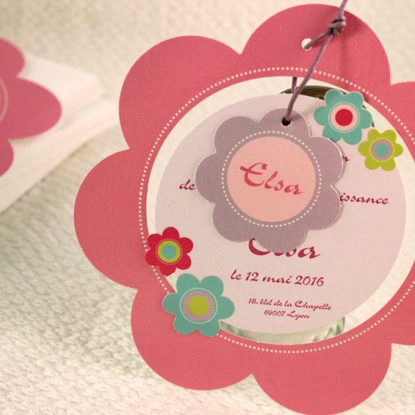 Faire part Naissance 89308 Rond Petite marguerite Faire Part Selection