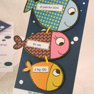 Faire part Naissance 89311 Animaux Les petits poissons Faire Part Selection