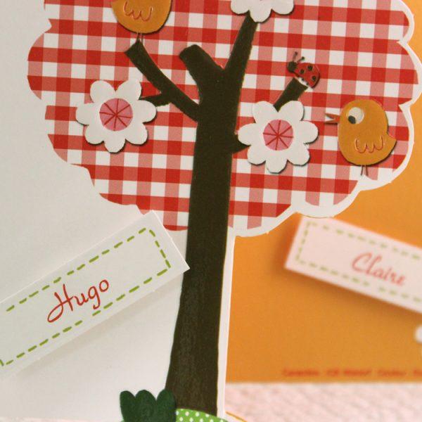 Faire part Naissance 89312 Colore Sur un arbre perché Faire Part Selection 3