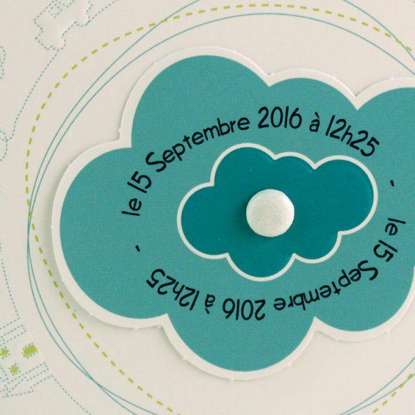 Faire part Naissance 89318 Rond Mon petit monde Garçon Faire Part Selection 2