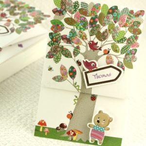 Faire part Naissance 89322 Forêt L'arbre de la vie Faire Part Selection