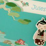 Faire part Naissance 89334 Bleu Lotus Garçon Faire Part Selection 3