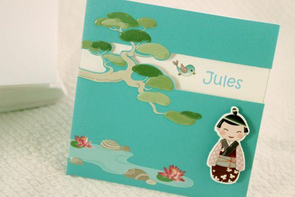 Faire part Naissance 89334 Bleu Lotus Garçon Faire Part Selection