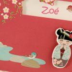 Faire part Naissance 89335 Rose Lotus Fille Faire Part Selection 3