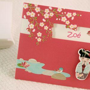 Faire part Naissance 89335 Rose Lotus Fille Faire Part Selection