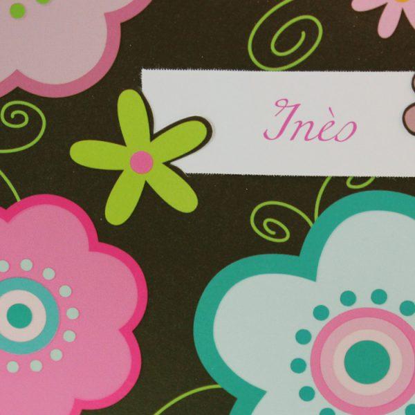 Faire part Naissance 89336 Marron Fleurs graphiques Faire Part Selection 3