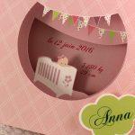 Faire part Naissance 89347 Rose La petite chambre Faire Part Selection 3