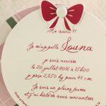 Faire part Naissance 89350 Rond Tartan rose Faire Part Selection 3