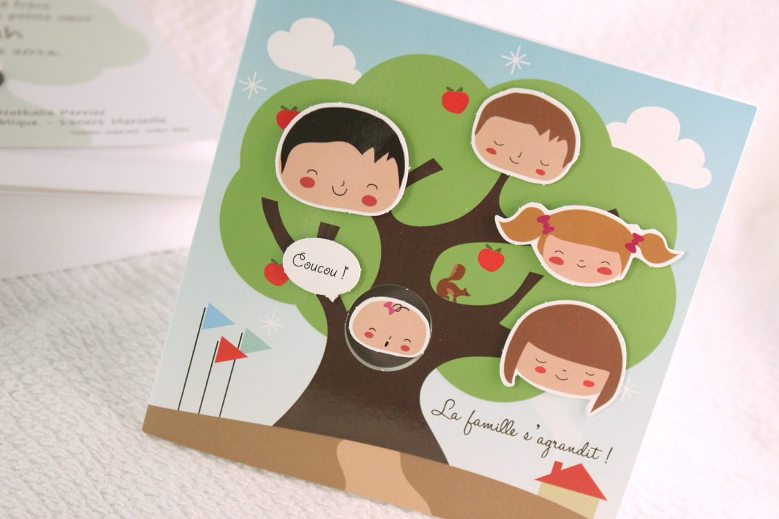 Faire part Naissance 89368 Colore La vie de famille Faire Part Selection