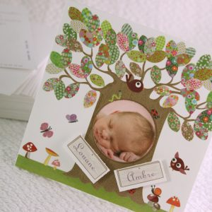 Faire part Naissance 89370 Colore L'arbre magique Faire Part Selection