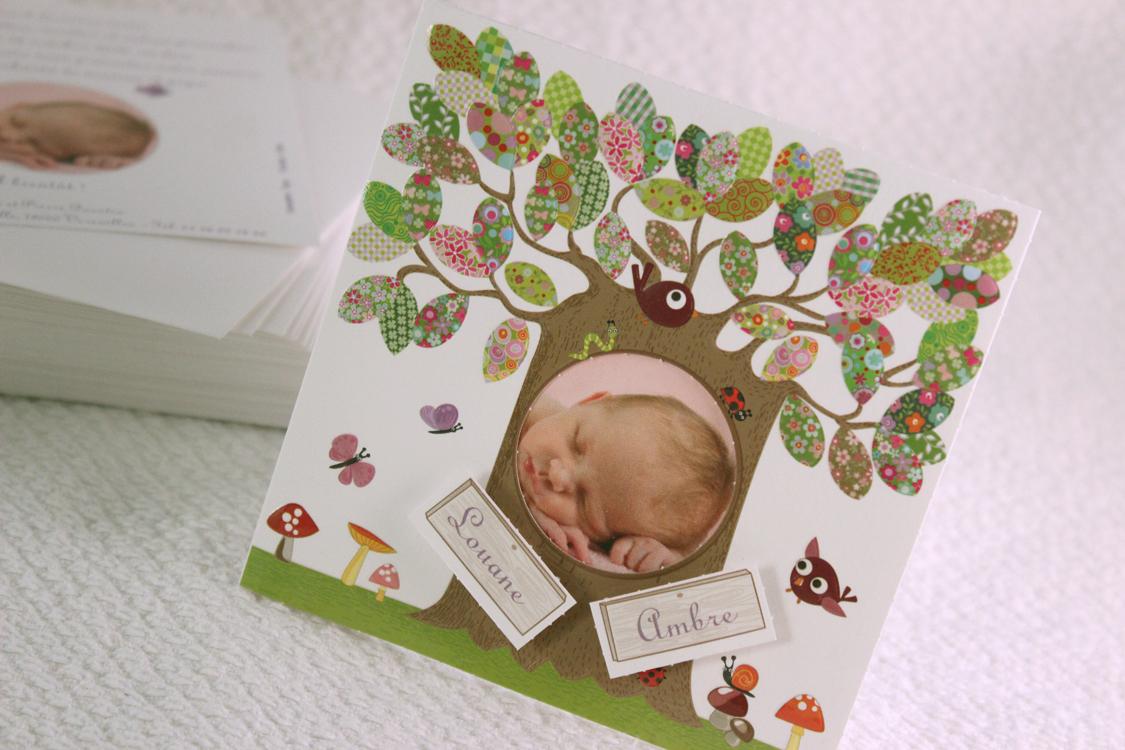 Faire part Naissance 89370 Colore L'arbre magique Faire Part Selection